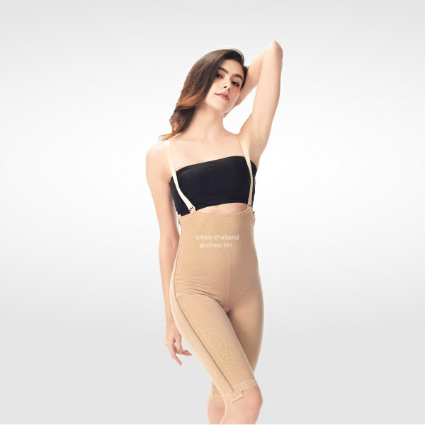 I CHEER MID BODY COMPRESSION GIRDLE W/ TWO LATERAL ZIPPER – ABOVE KNEE