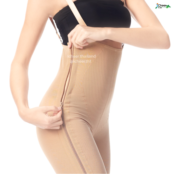 I Cheer Mid Body Compression Girdle W Two Lateral Zipper - Above Knee