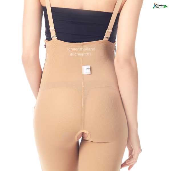 I Cheer Mid Body Compression Girdle W Two Lateral Zipper- Below Knee